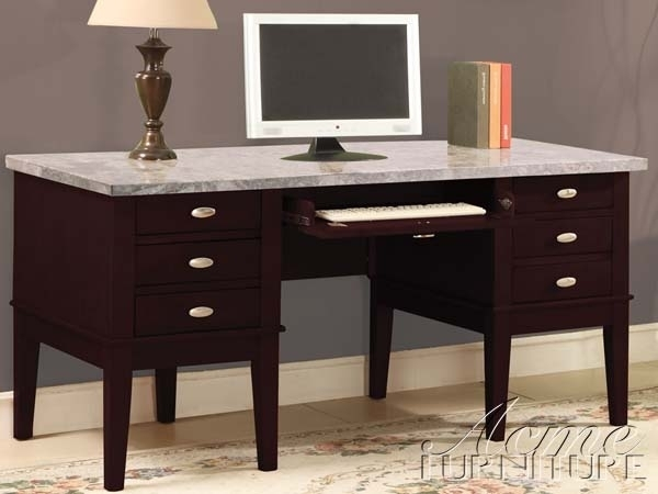 Britney Marble Top Home Office Desk In