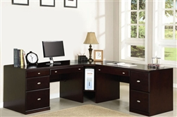 Cape 4 Piece Home Office Set in Espresso Finish by Acme - 92033