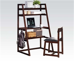 Celia 2 Piece All in One Desk and Chair Set in Espresso Finish by Acme - 92050