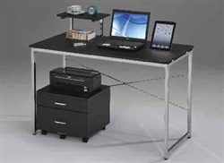 Ellis Black and Silver Metal Computer Desk by Acme - 92086