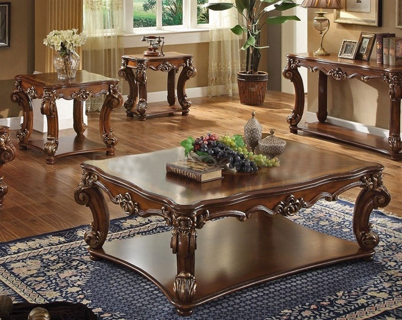 Vendome Executive Home Office Desk In Cherry Finish By Acme