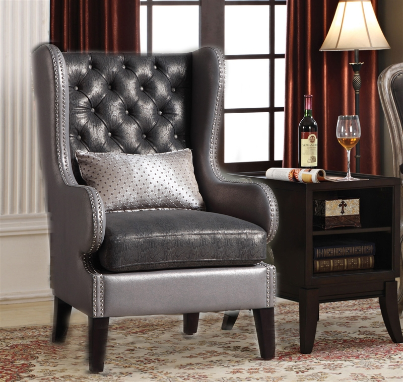 Chantelle 2 Piece Accent Chair And Table Set By Acme