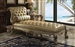 Dresden Upholstered Chaise in Gold Patina Finish by Acme - 96489
