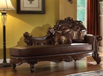 Vendome Chaise in Cherry Finish by Acme - 96491
