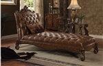 Versailles Chaise in Cherry Oak Finish by Acme - 96544