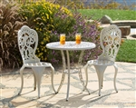 Fiesta 3pc Bistro Set in Sand Beige Finish by Bridgeton Moore 10498471