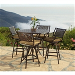 Charleston 5pc Patio Bar Table Set by Bridgeton Moore 10632271
