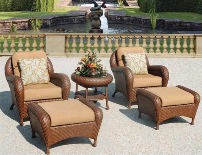 Villanova 5pc Woven Outdoor Club Chair Patio Set By Bridgeton Moore 10725224