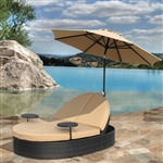Solara Outdoor Patio Double Chaise Lounge with Umbrella by Bridgeton Moore 10829550
