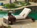 Panorama 2pc Woven Chaise Lounge and Side Table Set by Bridgeton Moore 10830649