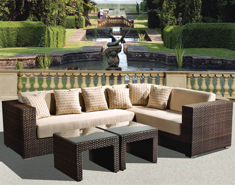 Panorama 4pc Sectional Woven Outdoor Living Set by ... on Outdoor Living Set id=58551