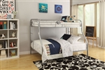 Tritan Twin/Full Bunk Bed in Silver Finish by Acme - 02053SI