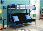Eclipse Twin/Full Futon Bunk Bed in Navy Finish by Acme - 02091NV