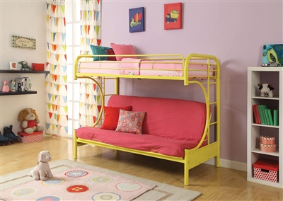 Eclipse Twin/Full Futon Bunk Bed in Yellow Finish by Acme - 02091YL