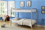 Thomas Twin/Twin Bunk Bed in Silver Finish by Acme - 02188SI