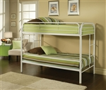 Thomas Twin/Twin Bunk Bed in White Finish by Acme - 02188WH