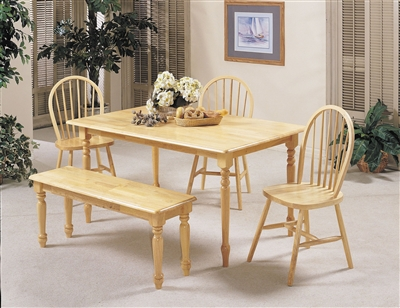 Farmhouse 5 Piece Dining Room Set in Natural Finish by Acme - 02247N