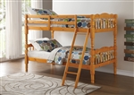 Homestead Twin/Twin Bunk Bed in Honey Oak Finish by Acme - 02301