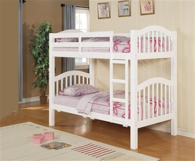 Heartland Twin/Twin Bunk Bed in White Finish by Acme - 02354