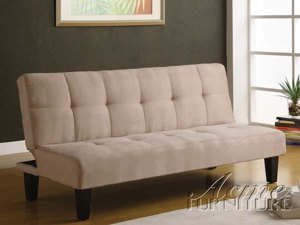 Beige Microfiber Adjule Sofa Bed