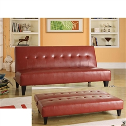 Conrad Red Bycast Adjustable Sofa by Acme - 05856