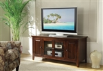 Christella 55 Inch TV Console in Chocolate Finish by Acme - 10346