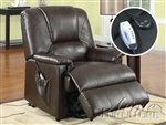 Reseda Massage Power Lift Recliner Brown by Acme - 10652