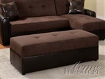 Lakeland Chocolate/Espresso Ottoman by Acme - 15777