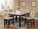 Britney 7 Piece Counter Height Dining Set in White Marble & Walnut Finish Finish by Acme - 17059-16777