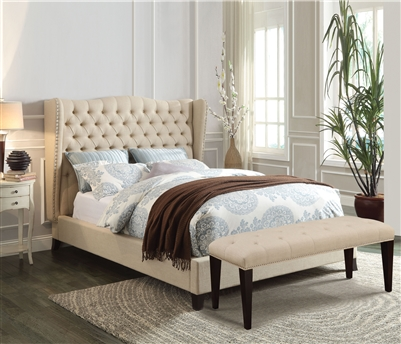 Faye Bed in Beige Finish by Acme - 20650AQ