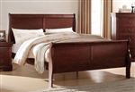 Louis Philippe Sleigh Bed in Cherry Finish by Acme - 23750Q