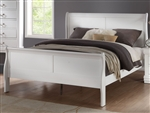 Louis Philippe Sleigh Bed in White Finish by Acme - 23830Q