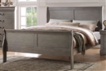 Louis Philippe Sleigh Bed in Antique Gray Finish by Acme - 23860Q