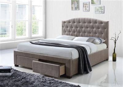 Denise Bed in Mink Finish by Acme - 25670Q