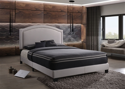 Garresso Bed in Fog Finish by Acme - 26340Q
