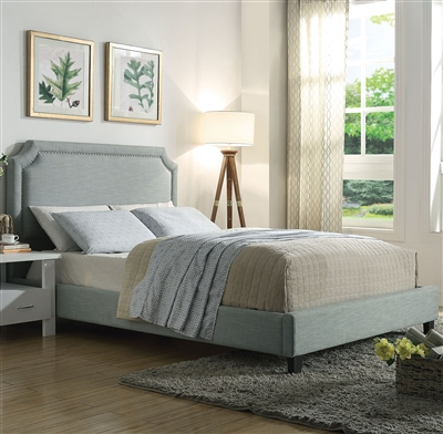 Amias Bed in Aqua Finish by Acme - 26480Q