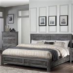 Vidalia Bed in Rustic Gray Oak Finish by Acme - 27320Q
