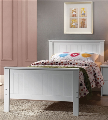 Bungalow Twin Bed in White Finish by Acme - 30025T