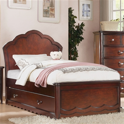Cecilie Twin Bed w/Panel Headboard in Cherry Finish by Acme - 30270T