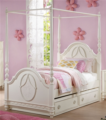 Dorothy Twin Bed in Ivory Finish by Acme - 30360T