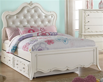 Edalene Twin Bed in Pearl White Finish by Acme - 30505T