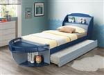 Neptune II Twin Bed in Gray/Navy Finish by Acme - 30620T