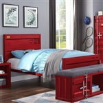 Cargo Twin Bed in Red Finish by Acme - 35950T