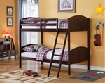 Toshi Twin/Twin Bunk Bed in Espresso Finish by Acme - 37010