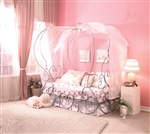 Priya Twin Canopy Bed in Silver Finish by Acme - 37190T