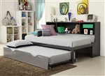 Renell Twin Bed in Black & Silver Finish by Acme - 37225T