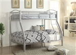 Cayelynn Twin/Full Bunk Bed in Silver Finish by Acme - 37380SI