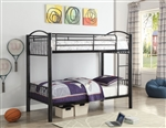 Cayelynn Twin/Twin Bunk Bed in Black Finish by Acme - 37385BK
