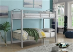 Cayelynn Twin/Twin Bunk Bed in Silver Finish by Acme - 37385SI