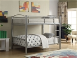 Cayelynn Full/Full Bunk Bed in Silver Finish by Acme - 37390SI